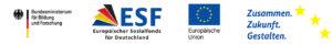 Logos von ESF, EU und Bildunsministerium