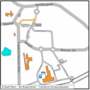 Anfahrtsplan vhs Kamp-Lintfort - nicht barrierefrei