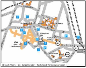 Anfahrtsplan Altes Landratsamt - nicht barrierefrei